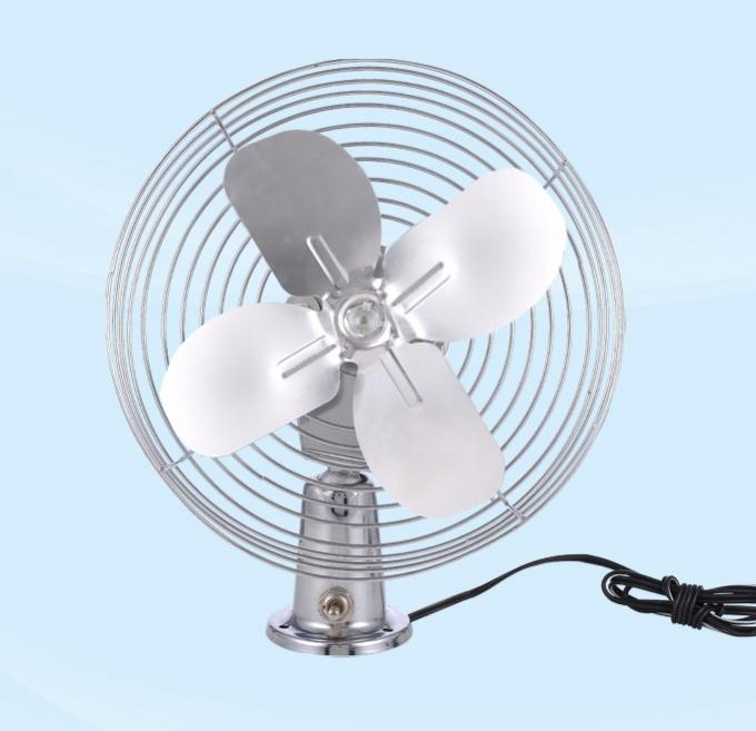 Safety Metal Guard Car Cooling Fan Direct Current 12v With 60 Strips