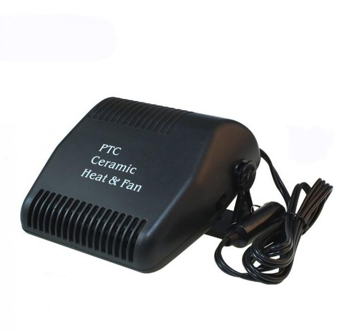 150w 12v Mini Portable Car Heaters Electric Black Color Long Working Life