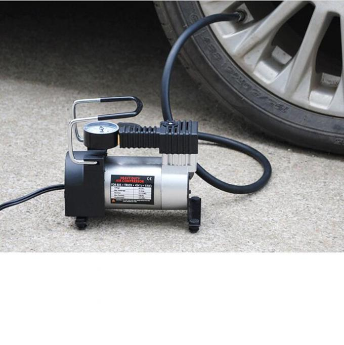 Single Cylinder Metal Air Compressor Handy 3m Cord With Cigarette Lighter