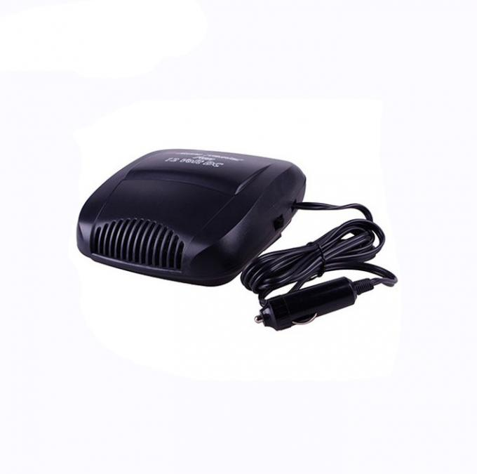 Oem 12v Portable Auto Heater Black Color , Plastic Electric Fan Heater