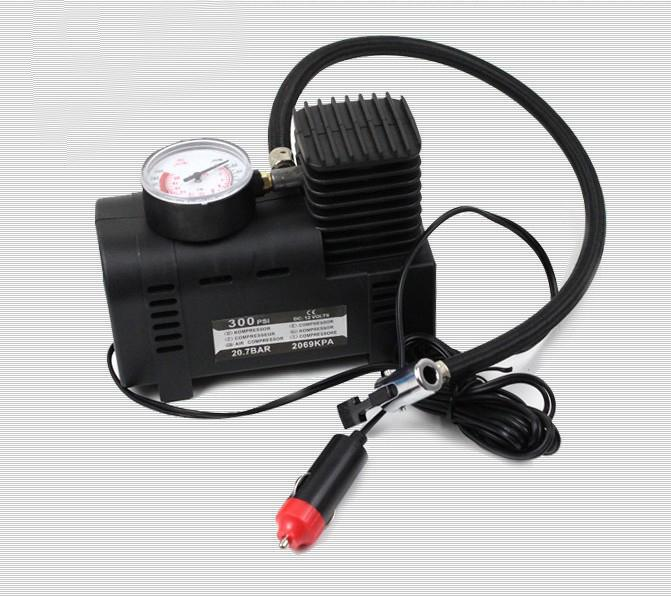 DC 12V 250PAI Portable Car Air Pump With Watch, One Year Warranty