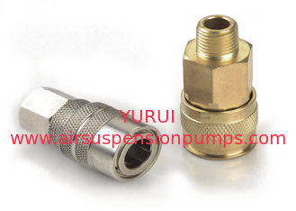 "1/4"" Quick Connect Couplers Of Air Suspension Pump , Quick Connect Hose Fittings"