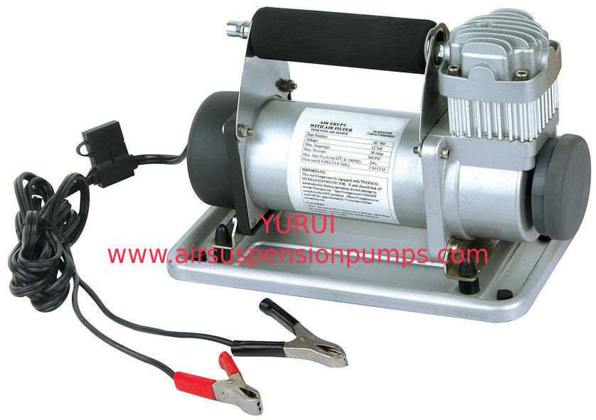 Silver Metal 12vdc Air Compressor Portable To Carry One Year Warranty