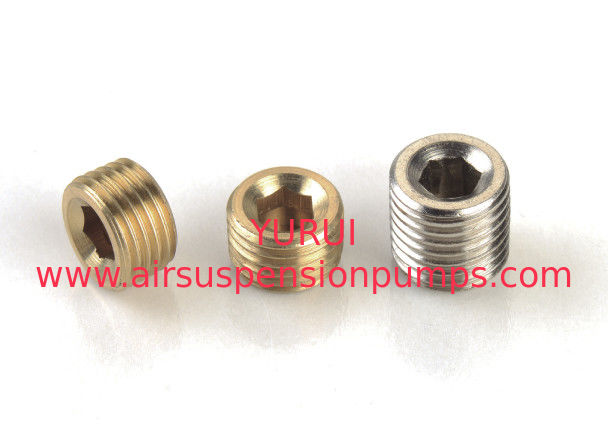 "Metal Air Compressor Parts 3PC. 1/4"" Npt Plug Fittings / Pneumatic Fittings"