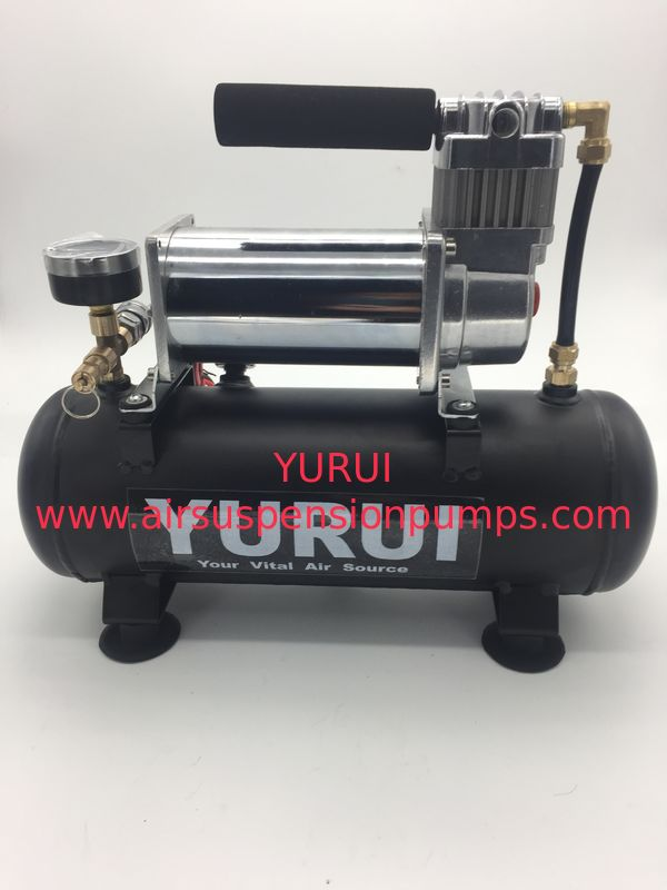 Low Noise DC Air Suspension Pump With Connected Air Tank And Gauge