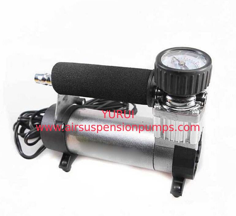 Silver Black Heavy Duty Portable Air Compressor 12v 140 Psi Air Pump For Car