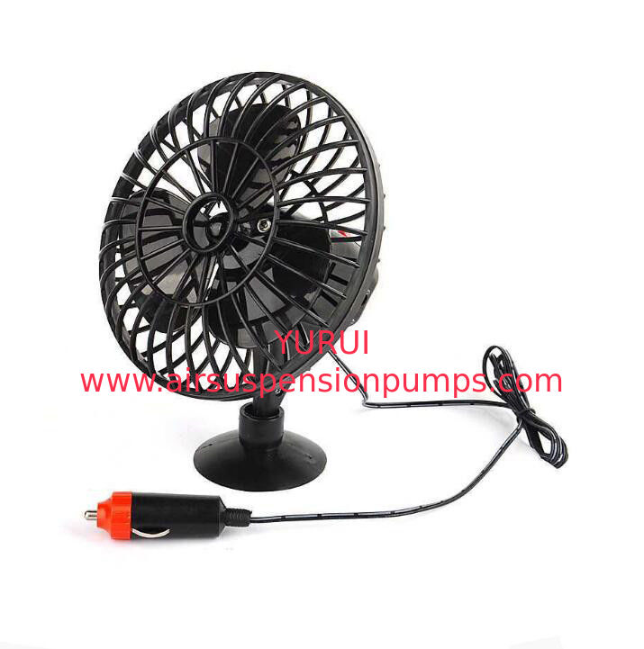 DC 12V Oscillating Car Cooling Fan With On / Off Switch Suction Cup Mounting