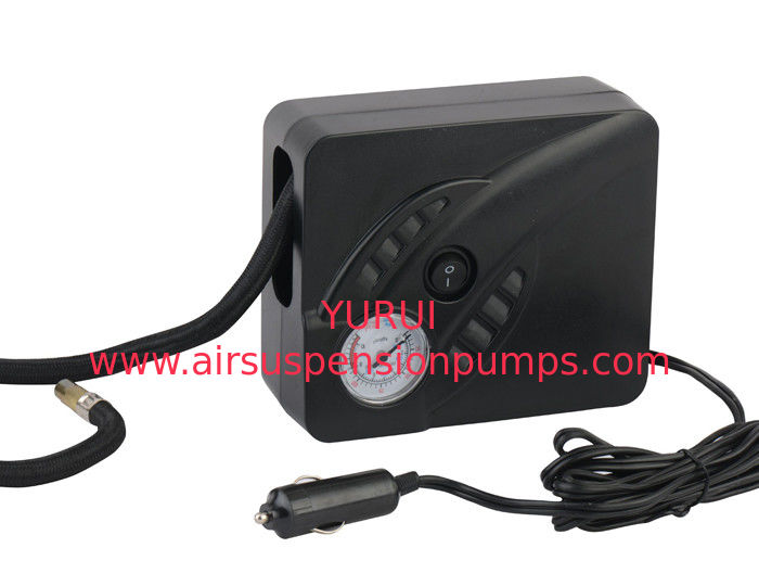 Black Auto Tire Air Compressor / DC 12V Portable Air Compressor For Tires