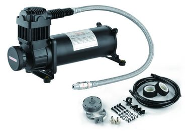 Black Single Powerful 200 PSI Air Suspension Compressor Heavy Duty IP67
