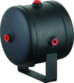 Black Steel Horizontal Air Comressor Tank For Air Horn Tires , 0.5 Gallon air tank
