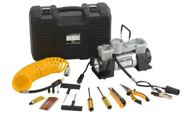 DC12V Double Cyliner Metal Vehicle Air Compressor Kit with Tools in Box