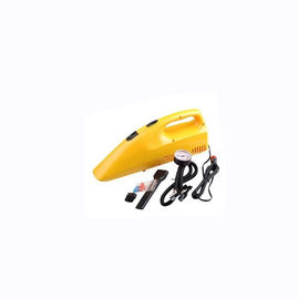 China Yellow Portable Car Vacuum Cleaner With 12v Dc Cigarette Lighter 35w - 60w factory