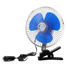 12V/24V Car Cooling Fan One Year Warranty With Half Safety Metal Guard