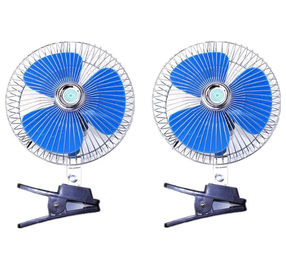 Blue And Silver Car Cooling Fan 12V/24V Made In China Provide OEM Service