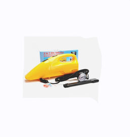 Yellow Handheld Car Vacuum Cleaner 35w-60w for choice Wet And Dry Function